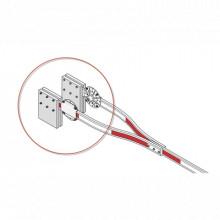 1602041 Dks Doorking Kit de instalacion para brazo de madera