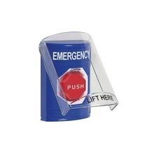 Ss24a2emen Sti Boton De Emergencia En Ingles Con Tapa Protec