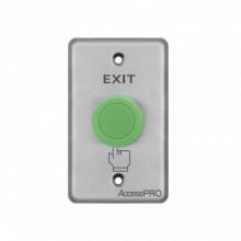 APBHVC Accesspro Boton Tipo Hongo Color Verde / NO NC COM