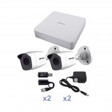 Kestxlt2bw Epcom KIT TurboHD 720p / DVR 4 Canales / 2 Camara