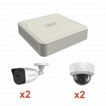 Kip2mp2b2d Hilook By Hikvision KIT IP 1080p / NVR De 4 Canal