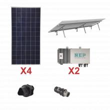 Kit2bdm600lv127 Epcom Kit Solar Para Interconexion De 1.1 KW