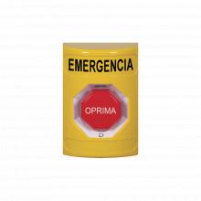 Ss2209emes Sti Boton De Emergencia En Espanol Color Amaril