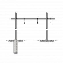 Wgbs121014 Rohn Guia De Cable Horizontal Tipo Puente Sencill