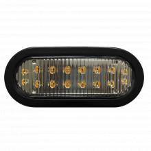 X3965r Ecco Luz Direccional LED Ovalada Roja Con Montaje De