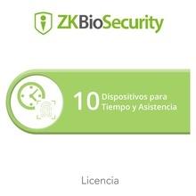 Zkbsta10 Zkteco Licencia Para ZKBiosecurity Permite Gestiona