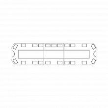 2147matrixdc135836 Code 3 Torreta 47 Serie 21 Con 204 LEDs