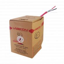 9422 Viakon Cable Calibre 18 FPLR Incendio 2 Conductores 3