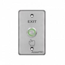 APBIVC Accesspro Boton de aro iluminado color verde/ IP65 Ac