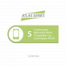 Atlasapp5 Zkteco Licencia De 5 Cuentas Para Aplicacion Movil