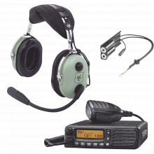 Ica120kit Icom Kit Radio Movil Aereo Icom Con Auricular Davi