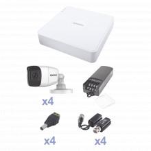 Kevtx8t4bga Epcom KIT TurboHD Con Audio 1080p / DVR 4 Canale