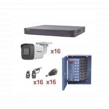 Kh1080p16bw Hikvision KIT TurboHD 1080p / DVR 16 Canales / 1