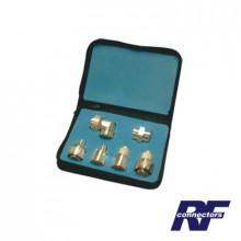 Rfa4013 Rf Industriesltd Kit Completo De 6 Adaptadores 7-16