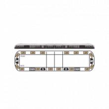 VTG60A16 Ecco Torreta ambar de 60 Vantage 16 LED 2 lu