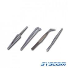 10735 Syscom Juego De 4 Mini-Tenazas De Acero Inoxidable 3