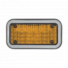 45bza Code 3 Luz Perimetral 3X7 Y LED Ambar Con Bisel claro