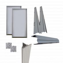 5052ad Assa Abloy Kit Puerta Doble Metalica Galvanizada 8 Ft
