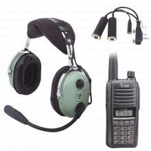 Ica1621kit Icom Kit Radio Portatil Aereo Icom Con Auricular