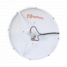 Np3334 Netpoint Antena Blindada De Alto Rendimiento De 4 Ft