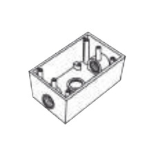 Rr2746 Rawelt Caja Condulet FS De 1 25.4 Mm Con Tres Boc