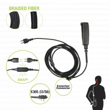 Snp2w30sbf Pryme Cable Para Microfono Audifono SNAP Intercam