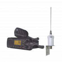 Um385bkkit Uniden Kit De Radio UM385BK Antena Marina 1600H