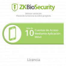 Zkbsappprj Zkteco Licencia Para ZKBiosecurity Para Mas De 10
