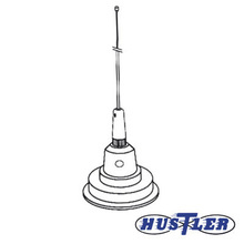 1c100w Hustler Antena Movil En Color Blanco Para Rango De Fr