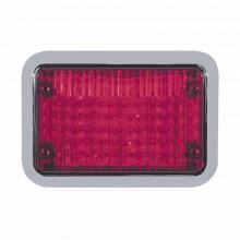 65bzr Code 3 Luz Perimetral LED Roja 4x6 Con Bisel rojo