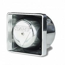 FM100C Code 3 Altavoz cromado de montaje 100 Watts sirenas
