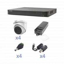 Kevtx8t4ega Hikvision KIT TurboHD Con Audio 1080p / DVR 4 Ca