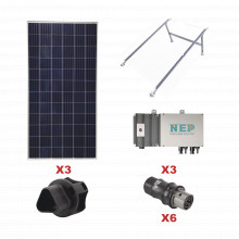 Kit3bdm600lv127 Epcom Kit Solar Para Interconexion De 1.65 K