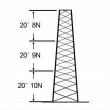 Ssv18m108 Rohn Torre Especial Autosoportada Robusta De 18 M.