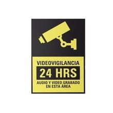 Syscalvid10 Syscom Etiqueta De Videovigilancia En Vinil Adhe