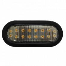 X3965A Ecco Luz direccional LED ovalada ambar con montaje de