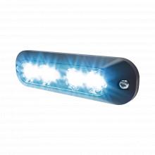 Xtp4mcbw Code 3 Luz Auxiliar Con 4 LEDs Color Azul-claro roj