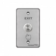 APBSMC Accesspro Boton de cabeza plana /Exterior IP65 Acceso