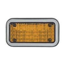 Code 3 45bza Luz Perimetral 3X7 Y LED Ambar Con Bisel claro