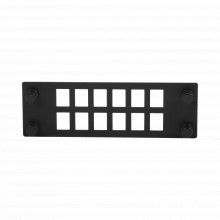 Fponeap12 Panduit Placa Para 12 Adaptadores De Fibra Optica