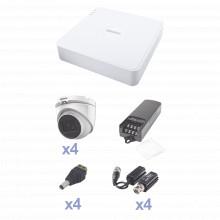 Kevtx8t4ega Epcom KIT TurboHD Con Audio 1080p / DVR 4 Canale