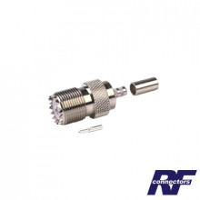 Rfu527 Rf Industriesltd Conector UHF Hembra SO-239 De Ani