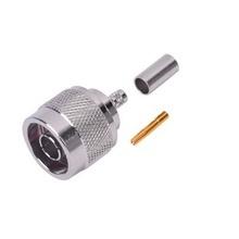 Rp1005c Rf Industriesltd Conector N Macho Inverso De Anillo