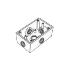 Rr2748 Rawelt Caja Condulet FS De 1 25.4 Mm Con Cinco Boc