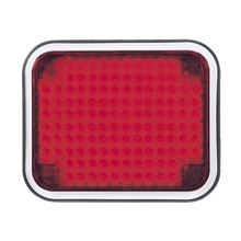 85bzr Code 3 Luz Perimetral LED Roja 7x9 Con Bisel rojo
