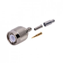 Rft12023 Rf Industriesltd Conector TNC Macho De Anillo Pleg