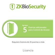 Zkbsac5add Zkteco Licencia Para ZKBiosecurity Permite Agrega