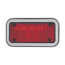 45bzr Code 3 Luz Perimetral 3X7 Y LED Rojos Con Bisel claro