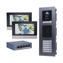Dskismulti7ap Hikvision KIT De Videoportero IP Para 7 DEPART