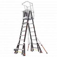 Cage8ft Little Giant Ladder Systems Escalera Con Jaula De Fi